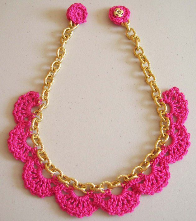 CROCHET NECKLACE tutorial