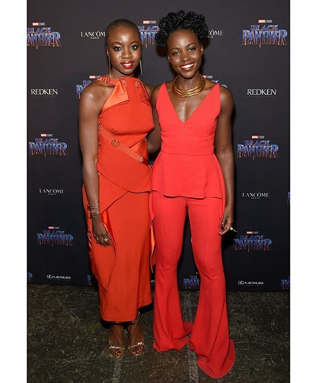My #wcw.  @Lupitanyongo @Danaigurira #trailblazers and looking ravishing in red @blackpanther promotional tour. I ask again.  Have you seen the film? Go see. Take your husband  wife  kids girlfriends  boyfriends  parents brothers and sisters  family and friends!  Continue to smash box office records. Read more here http://ift.tt/2FiFWmB Click the link in the bio. . . . .  #blackpanther #blackbusiness #blackexcellence #LupitaNyongo #danaigurira #chadwickboseman #michaelbjordan #letitiawright…