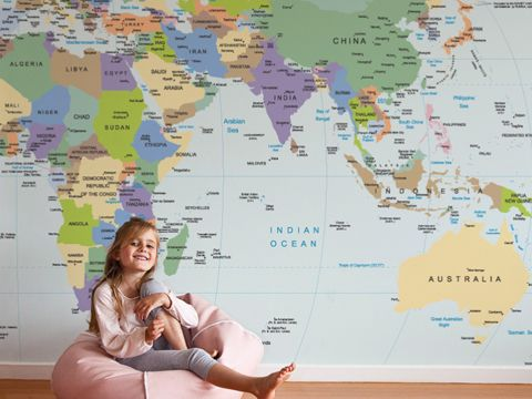 28 best world map sticker decor images on pinterest world maps love this world map wall decal gumiabroncs Choice Image