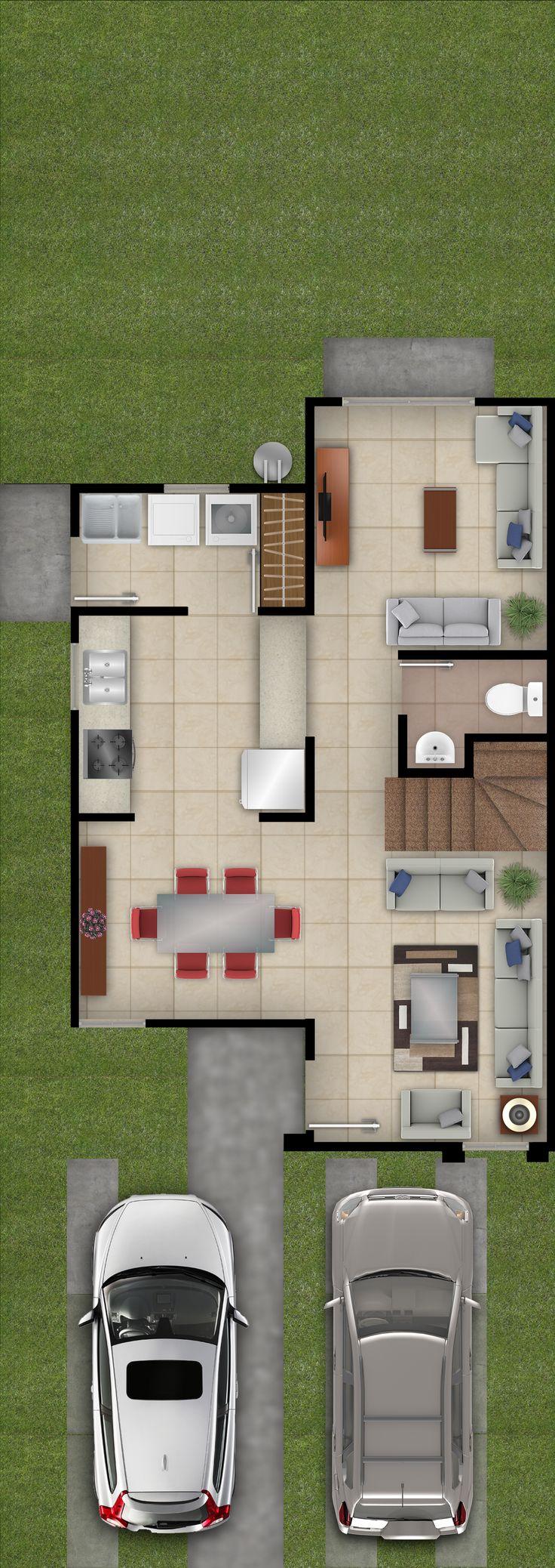 Las 25 mejores ideas sobre planos de los apartamentos en - Modelo de casas de una planta ...