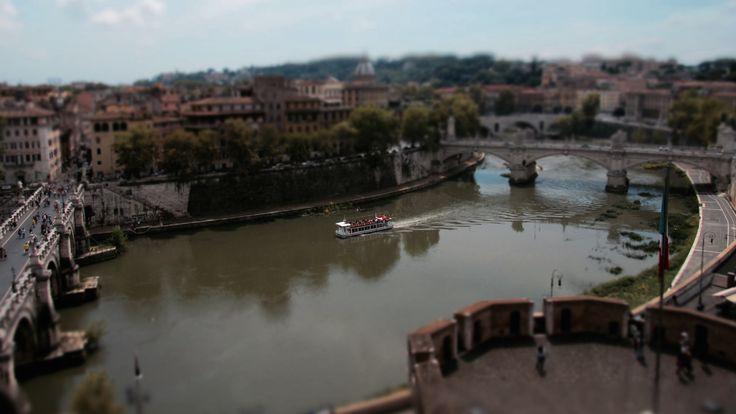 Roma - Il Tevere visto da Castel Sant'Angelo (Tilt Shift)