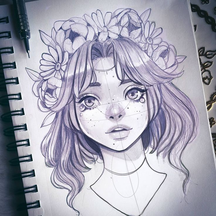 What's an anime you love that you feel like nobody else has watched? Mine would be Gosick and Shinesekai Yori Here's a a Saturday scribble #sketch #graphite #flowercrown #mechanicalpencil #micron #copic #drawing #dibujo