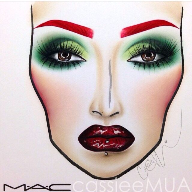 CASSIEMUA ••• Poison Ivy Face Chart Recreation                                                                                                                                                                                 More