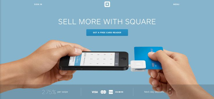 Homepage from Square | Triggers | ZURB Library