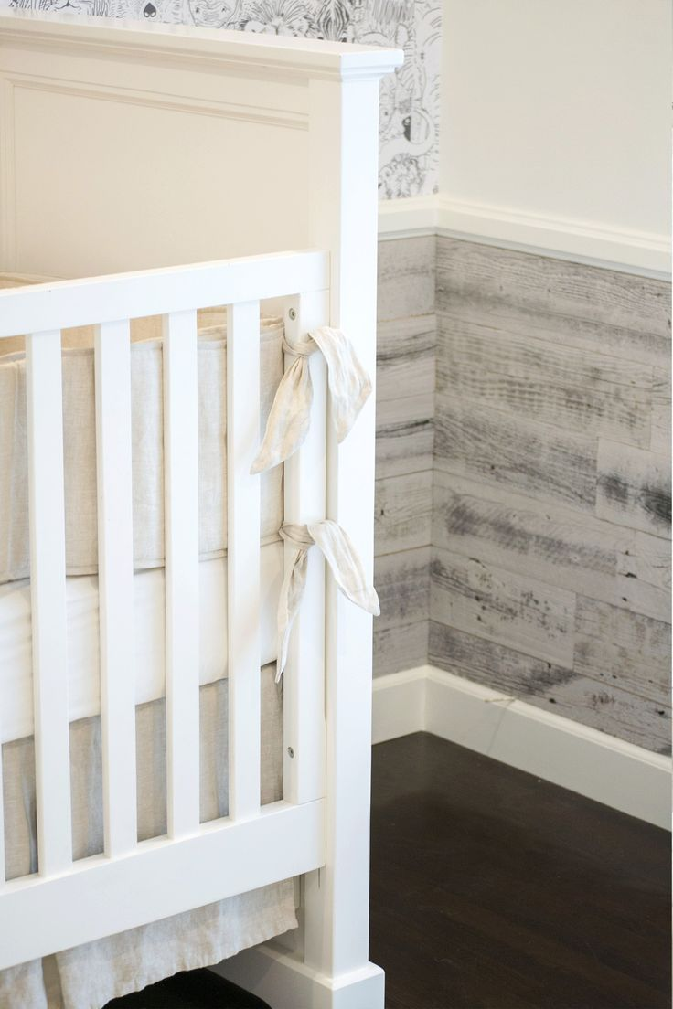 Rustic wainscoting in your next nursery design? @stikwooddesign makes the perfect application to get this look!