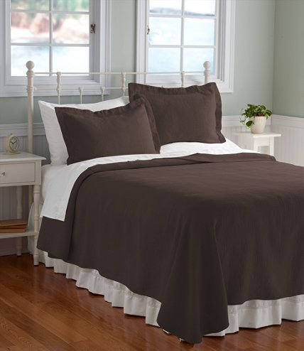brown bed cover    use with bed scarf and shams  Vintage Matelass Bedspread: Bedspreads   Free Shipping at L.L.Bean