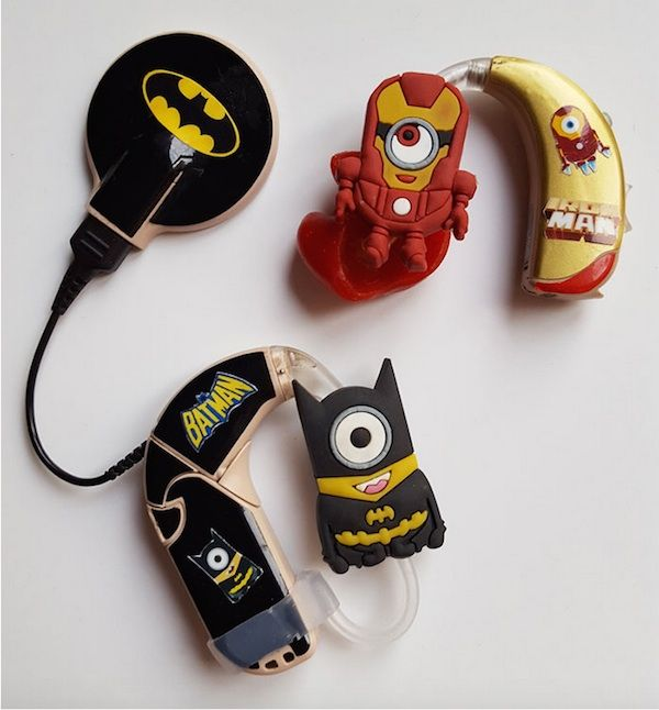 custom hearing aids and cochlear implant - Despicable Me Minions Bat Man Iron Man