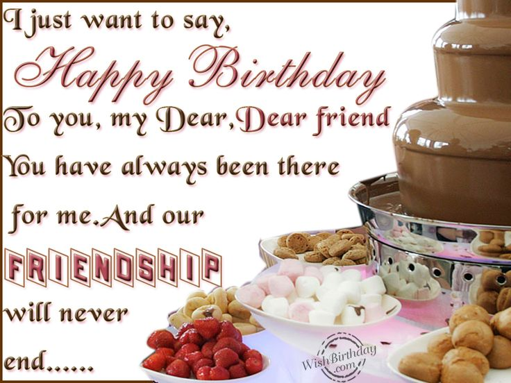 The 25 best Birthday wishes for friends ideas – Birthday Greetings to a Friend Quote