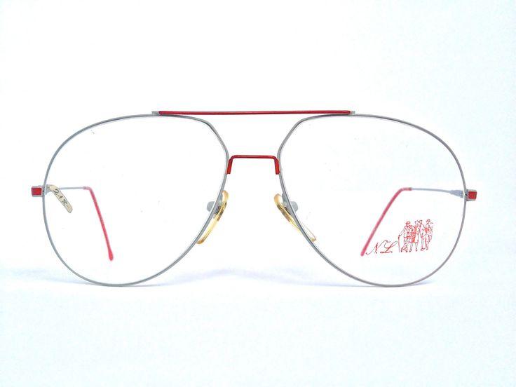"""Brille """" Nouvelle Ligne"""" Vintage grau rot Brillengestell 1980 Hipster Retro Pilotenbrille von ClassicalSense auf Etsy"""