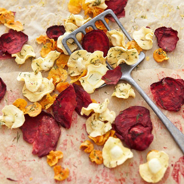 Bei diesen Chips können Sie gerne mehrmals zugreifen. Meerrettich und schonendes Trocknen der gesunden Gemüsesorten machen sie zu einem echten Powerfo...