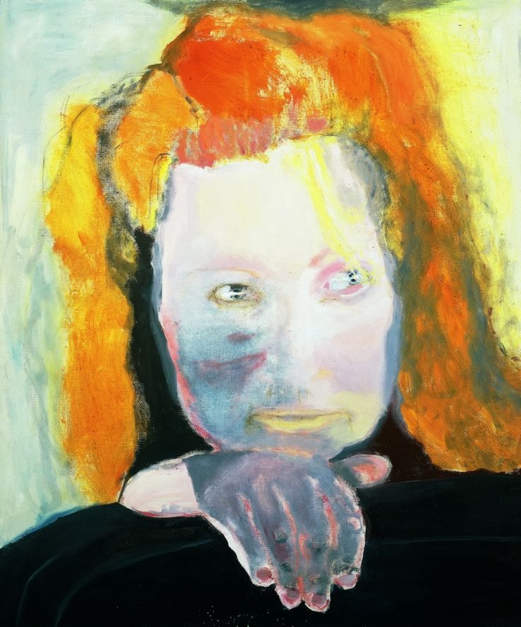 Marlene Dumas, Het Kwaad is Banaal, 1984, olieverf op doek, 125,5 x 105,5 cm, collectie Van Abbemuseum, Eindhoven, copyright Marlene Dumas, foto Peter Cox