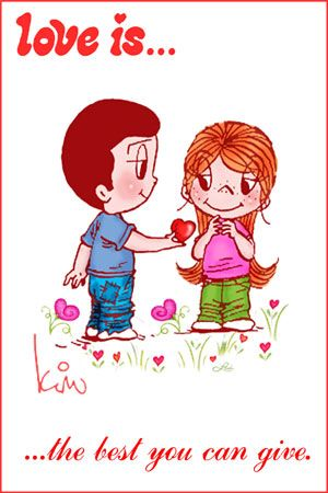 love is the best you can give, love is... happy Valentine's day.