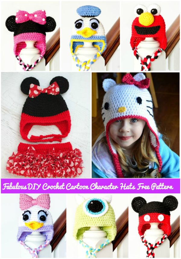 Crocheting Cartoons : free crochet cartoon character hat patterns #knitting, #crochet ...