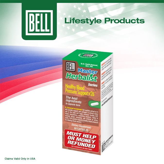 Bell Healthy Blood Pressure Support was masterfully formulated to help support your battle against life's daily pressures. It unites cutting-edge fish peptides with health-enhancing herbs backed by centuries of traditional use. Learn more about Bell Blood Pressure Formulation Combo on our website today. http://bit.ly/Poicmn