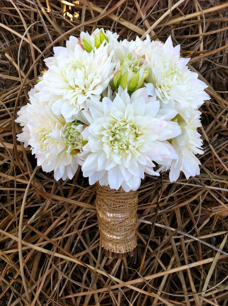 Rustic Dahlia Bouquet. $149.99, via Etsy.