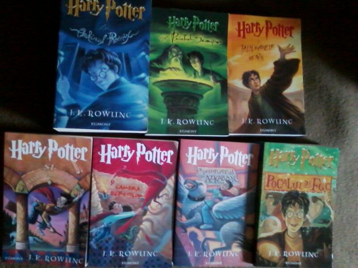 Harry Potter series by J. K. Rowling. I love these books.