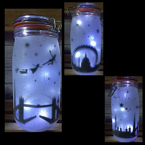 Night light mood lighting London Skyline Fairy Jar by TheGiftPage