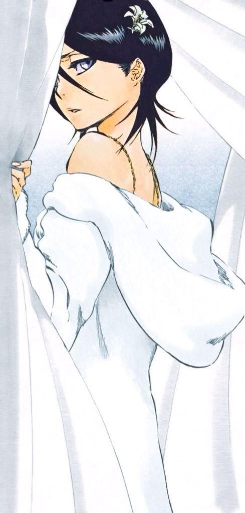 Rukia Kuchiki (朽木 ルキア, Kuchiki Rukia) is the lieutenant of the 13th Division under Captain Jūshirō Ukitake. Rukia is the adoptive sister of Byakuya Kuchiki and a friend of Ichigo Kurosaki. And Orihime Inoue (井上 織姫, Inoue Orihime) is a Human living in Karakura Town. She is a student at Karakura High School, where she is in the same class as Ichigo Kurosaki and her best friend, Tatsuki Arisawa.