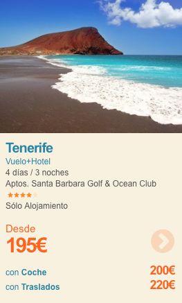 Puente de Mayo en Tenerife desde 195€  Vuelo + Hotel