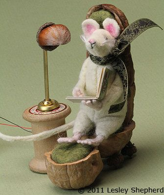 This easy to make reading chair for a mouse, or other woodland creature, is made mainly from walnut shells.