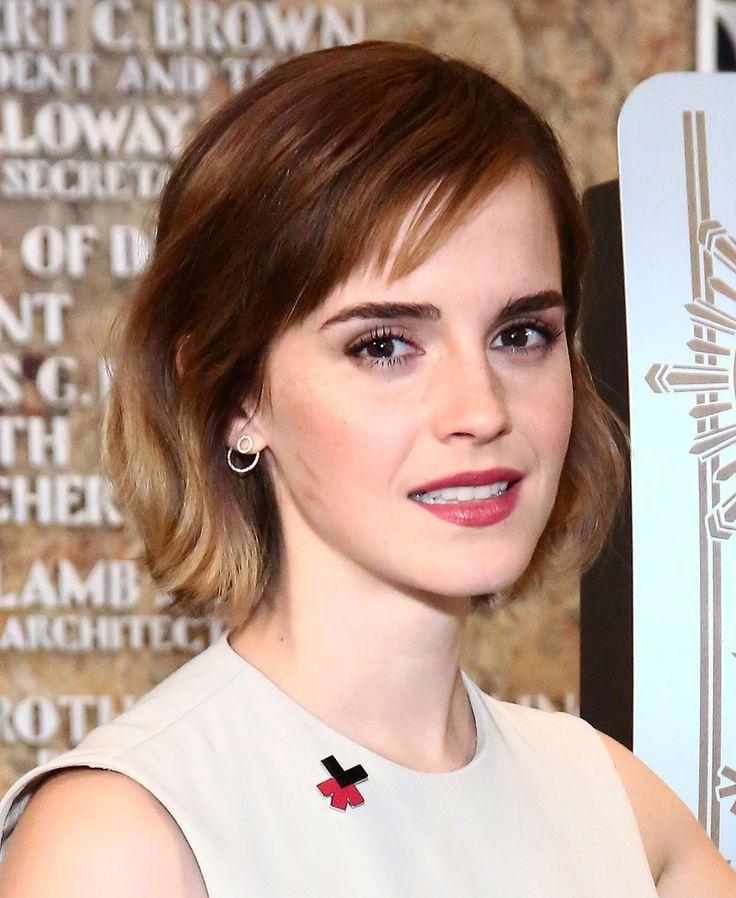 short hairstyles - Emma Watson Short cut with pony - Emma Watson showed a youthful