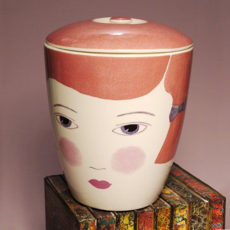 millicent storage jar - big tomato co are same company as unite and type. They do a few different women on the huge jars.