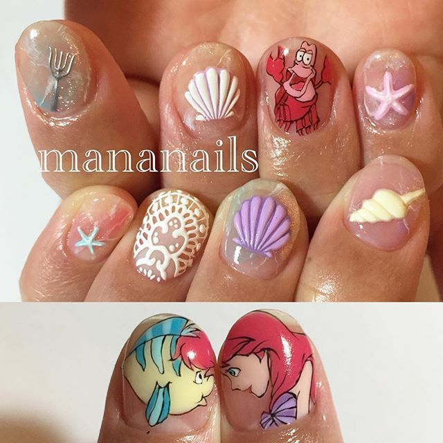 """little mermaid"" Photo taken by @mananails on Instagram, pinned via the InstaPin iOS App! http://www.instapinapp.com (01/29/2016)"