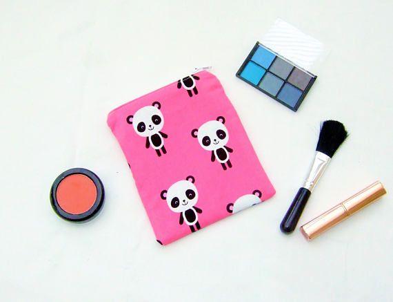 Pink Panda Purse Kawaii Cute Animals Cute Card Case Handy Pink Panda Black And White Cartoon Cute Bags
