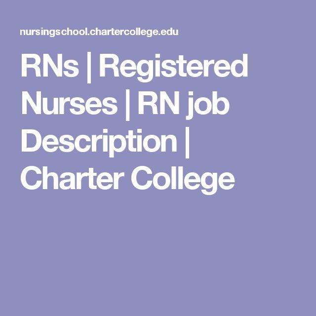 The 25+ Best Registered Nurse Job Description Ideas On Pinterest