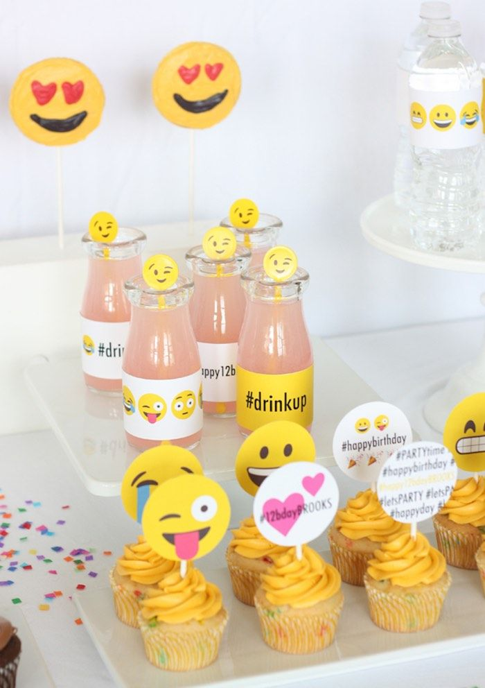 Instagram Emoji Themed Teen Birthday Party form Kara's Party Ideas. See more at karaspartyideas.com!