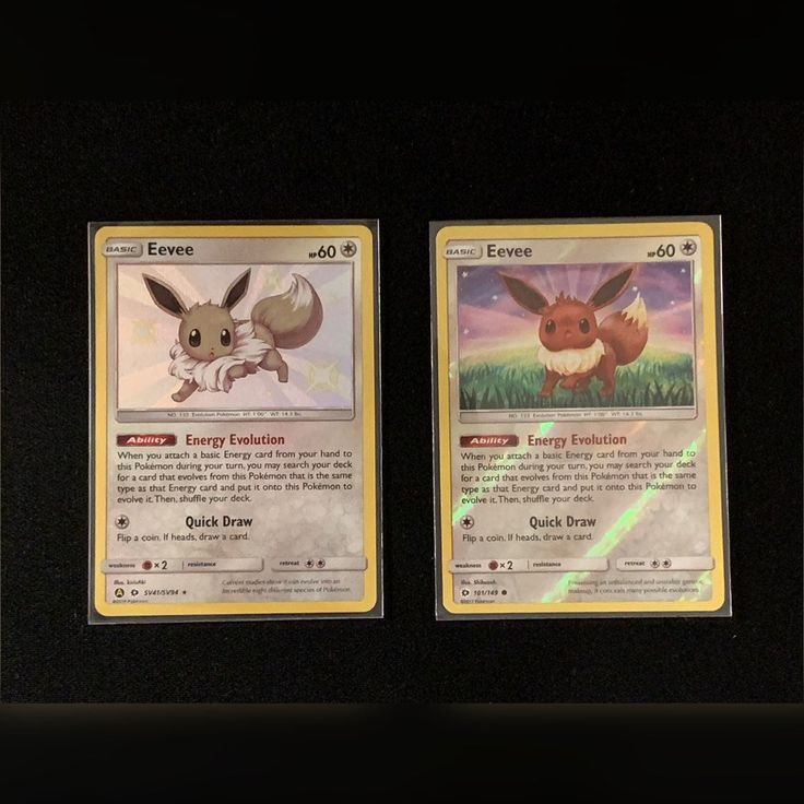 Eevee from the shiny vault released with hidden fates