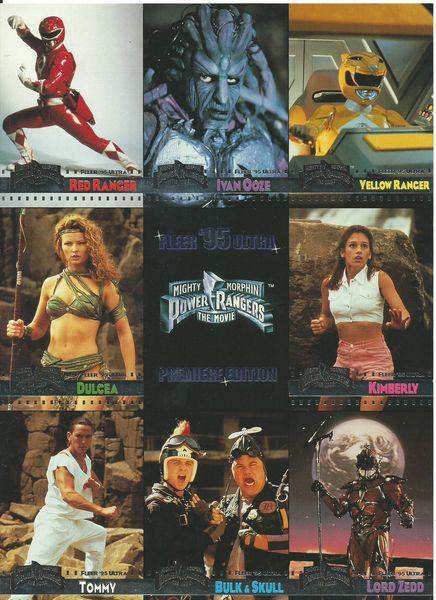 Mighty Morphin Power Rangers Fleer Ultra 1995 Premiere Edition