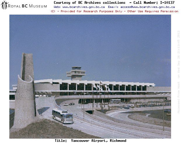 1977 Picture of the original airport....Vancouver International Airport