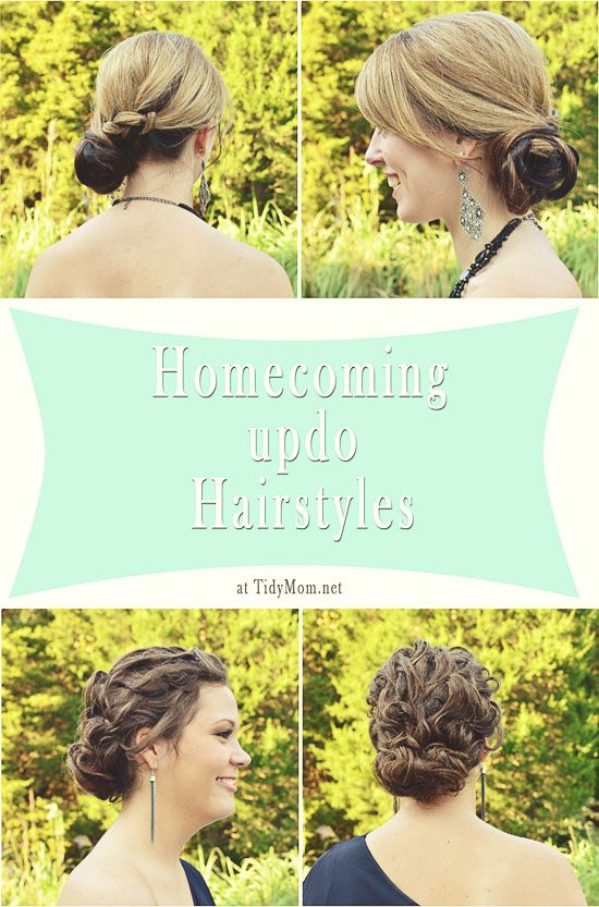2  Updo Hairstyles for Homecoming, Prom or Brides at TidyMom.net