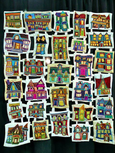 """Amazing!  """"Stepping Out in Saint John, New Brunswick"""" by Judy Morningstar  Chicago International Quilt Festival, 2009"""