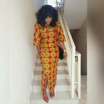 Afrikaanse Print Wrap Dress Afrikaanse Print jurk vloer