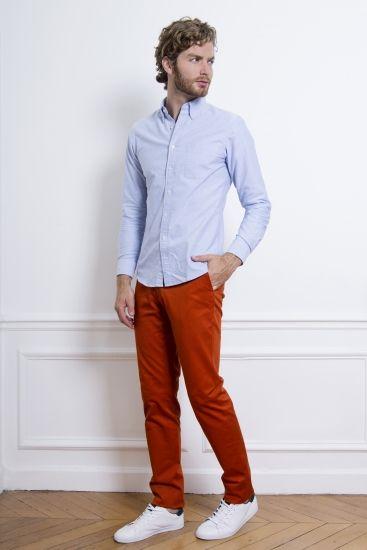 LEPANTALON - Chino Orange Rouille