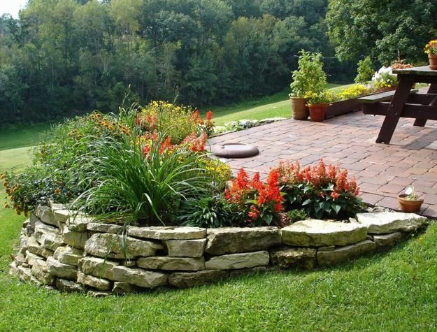Perfect green lawns and yard landscaping ideas in spring for Front flower bed ideas