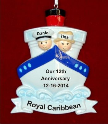 46 best Anniversary Ornaments images on Pinterest  Personalized
