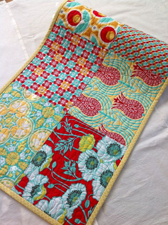Table Runner, Quilted, Modern, Floral, Joel Dewberry, Notting Hill Collection via Etsy