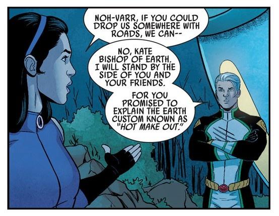 Kate Bishop and Noh-Varr - Young Avengers #5