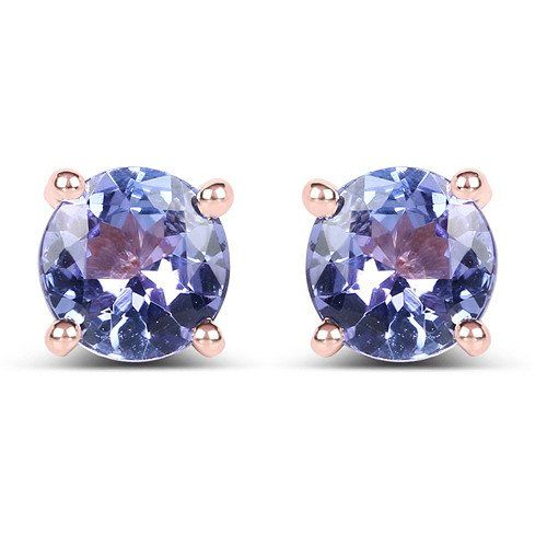 This is a beautiful combination with the rose gold and tanzanite gem together. Each earring is 1CT and is a perfect gift for birthdays, weddings, bridesmaids, anniversaries, graduations, you name it!