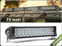Flood Beam 72W High Power Work Light for 4WD Off Road Vehicle - 12V & 24V Universal