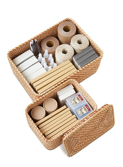 Muji offers shelving made from wood pulp, a waste bin made from recycled phone books in the Philippines and an eco-cotton sofabed among its worthier products. And look out for its rattan storage (baskets from £17.95). Fast-growing rattan is a great antidote to logging.
