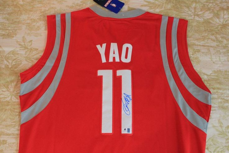 reputable site a7b5a 055af YAO MING SIGNED AND AUTHENTICATED JERSEY W/ COA (eBay Link ...