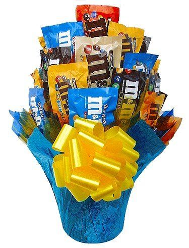 M medley candy gift bouquet - Small - http://mygourmetgifts.com/mm-medley-candy-gift-bouquet-small/