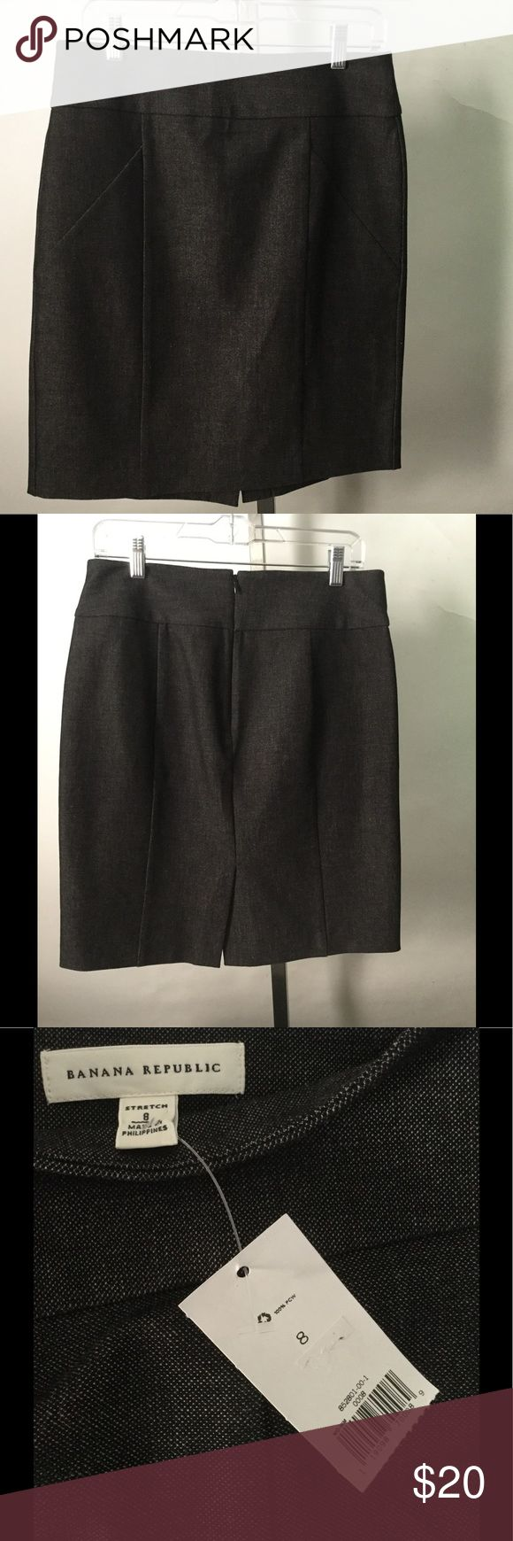 Banana Republic, Dark Jean Skirt, Size 8 Banana Republic, Dark Jean Skirt, Size 8, New Banana Republic Skirts