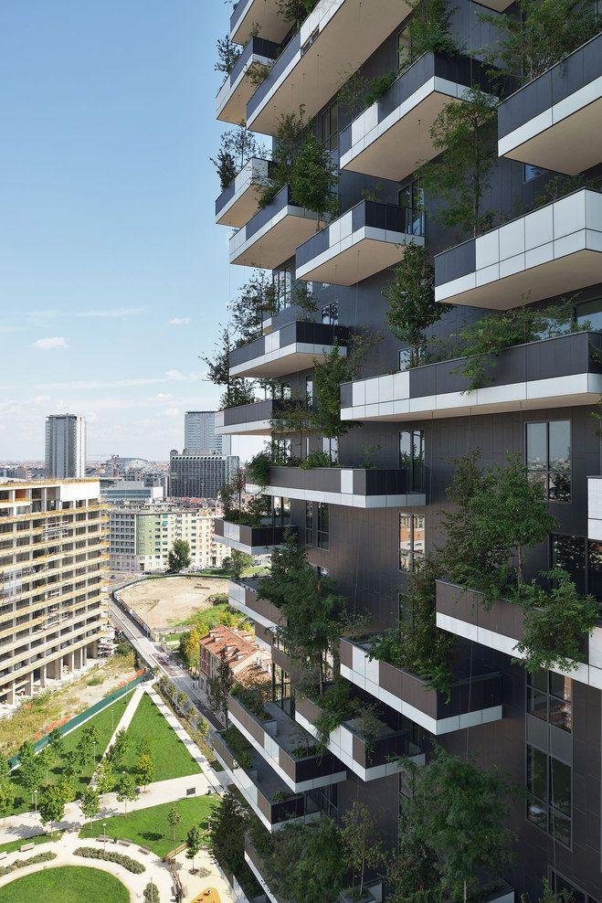 Bosco Verticale Boeri Studio (Stefano Boeri, Gianandrea Barreca, Giovanni La Varra) Italian architect Stefano Boeri designed this high-rise apartment buildings using trees and vegetation for its...