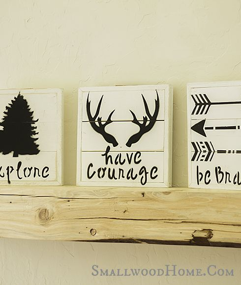 Smallwoods - BE BRAVE, HAVE COURAGE, EXPLORE - SET OF THREE, $45.00 (http://www.smallwoodhome.com/products/be-brave-have-courage-explore-set-of-three.html/)