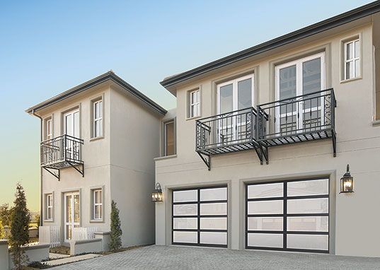 Garage door modern design and aluminum construction Wayne dalton garage doors